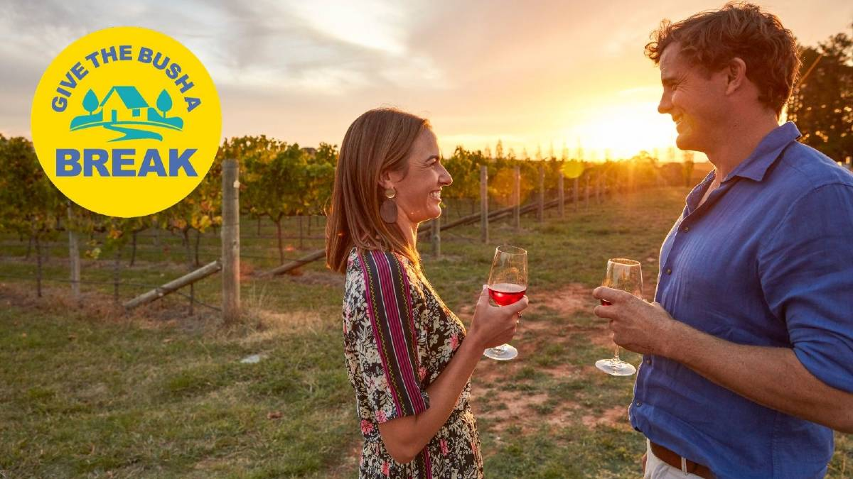 GO THERE: Swinging Bridge Wines at Orange is just one regional Australian destination loved-up couples can choose from this Valentine's Day. Picture: Destination NSW