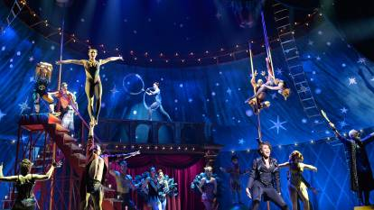 PIPPIN, the first large scale musical theatre production to open in Australia since COVID-19 closed theatres in March. PIPPIN is at the Sydney Lyric at The Star from November to January 31. Picture: Supplied